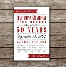 Reunion Cards Invitation Printable Save The Date Card For Class Reunion