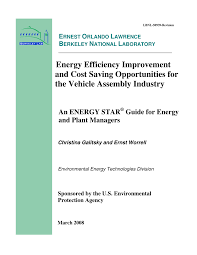 energy efficiency improvement and cost saving opportunities for