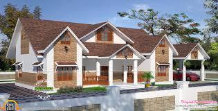 kerala european mix house kerala home design and floor plans