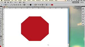 how to draw an octagon in photoshop adobe photoshop youtube