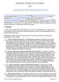 Florida Power Of Attorney Template by Free Printable General Power Of Attorney Forms