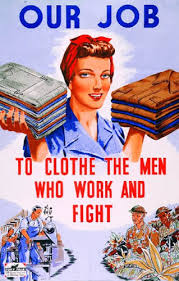 WWII propaganda poster for women to work