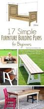 Building Plans For Picnic Table Bench by 17 Simple Furniture Building Plans For Beginners The Creative Mom