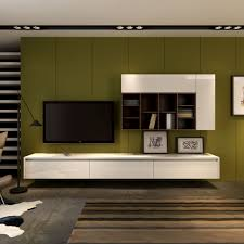 floating wall mounted entertainment unit and wall storage from