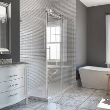shower stall glass doors shop bathtub u0026 shower door glass at lowes com