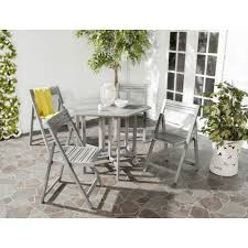 Safavieh Dining Room Chairs by Safavieh Kerman Gray Wash 5 Piece Patio Dining Set Pat7000b The
