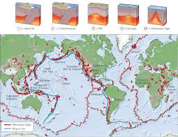 Tectonic Plate Map Relation Of Volcanism To Plate Tectonics Learning Geology