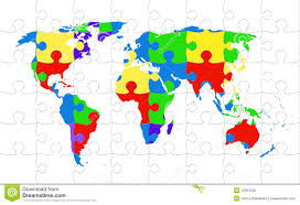 World Map Asia by Puzzle Map Asia Royalty Free Stock Photo Image 5337885