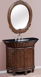 Bathroom Vanities 42 Inch by 42 Inch Single Bath Vanity Set With Mirror And Granite Top
