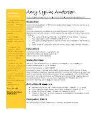 Student Resume Examples First Job by Freshman College Student Resume Internship Resume Sample