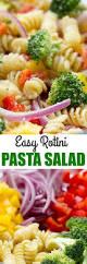 Pasta Salad Ingredients Easy Rotini Pasta Salad Culinary Hill