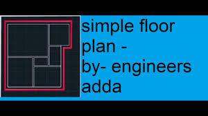 autocad 2d basics tutorial to draw a simple floor plan 2017