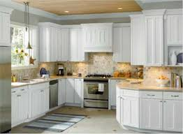 delighful kitchen ideas with cream cabinets units oak worktops on