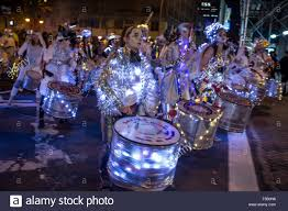 new york ny 31 october 2015 a drum line made up of energetic