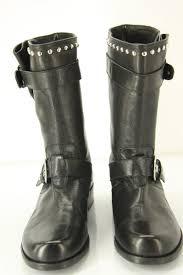 womens black leather biker boots stuart weitzman boots stuart weitzman trotter black studded