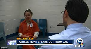 Kaitlyn Hunt  Lesbian cheerleader      speaks out from jail     Daily Mail