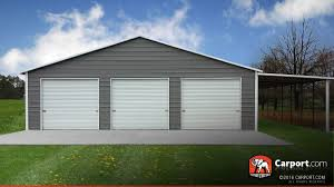 Garage And Shop Plans by This Custom Three Car Garage Has A Lean To On The Side And Three