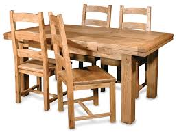 furniture teak wood expandable dining table and four chair with