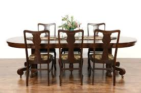Antique Dining Room Tables by Sold Round Quarter Sawn Oak 1900 Antique 45