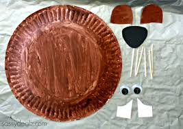 groundhog paper plate craft for kids crafty morning