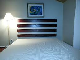 simple easy diy headboards with comfortable double bed beside