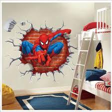 super hero spider man wall sticker decals kids baby nursery room