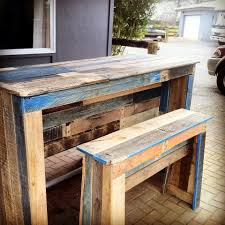 Patio Furniture Wood Pallets - outdoor pallet bar u0026 patio furniture
