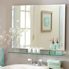 Ideas For Bathroom Mirrors Wall Mirror No Frame 55 Fascinating Ideas On In U2013 Harpsounds Co