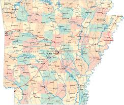 United States Map Major Cities by Arkansas Map