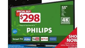 amazon tv black friday 55 inch philips 55pfl5601 f7 4k ultra hd smart tv walmart black