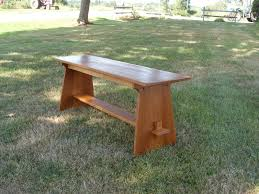 handmade mission style bench by the frugal woodworker custommade com