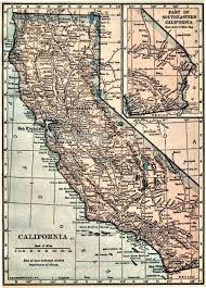 California Maps Vintage California Map California Map