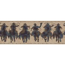 western rodeo cowboy patina silhouette riders on sure strip