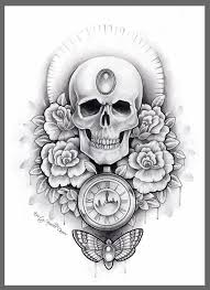 old owl clock tattoo design photos pictures and sketches