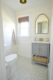 Bathroom Tile Installation by Glam Farmhouse Powder Room Makeover Tile Installation Powder