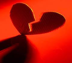 Corrugated cardboard heart cut in half Muddy Matches