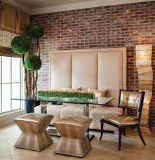 Living Room Wall Photo Ideas 50 Bold And Inventive Dining Rooms With Brick Walls