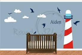 Pirate Decor For Home Nautical Theme Lighthouse Vinyl Wall Decal Infant And Children U0027s