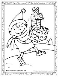 santa u0027s elf printable coloring page