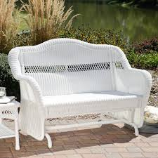 Painting Wicker Patio Furniture - coral coast casco bay resin wicker outdoor glider loveseat