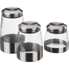 Glass Kitchen Canisters Airtight by Kitchen Circa Kitchen Canisters White Set Of Three With White