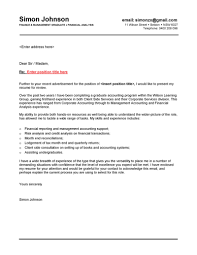 Graduate Nursing Cover Letter