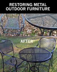How To Clean An Outdoor Rug by How To Take Your Rusty Outdoor Metal Furniture And Restore It To