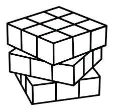 rubiks cube coloring page free clip art