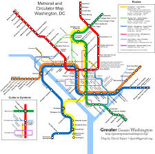 Metro Lines Map by Combine The Circulator And Metro Maps For Visitors U2013 Greater