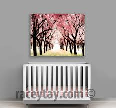 cherry blossom canvas large canvas art pink baby