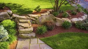 landscaping ideas hillside backyard archive lawn care