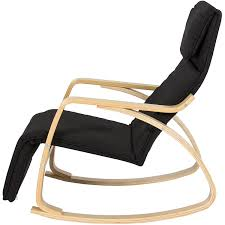 Rocking Chair Recliners Amazon Com Bcp Wood Recliner Rocking Chair W Adjustable Foot