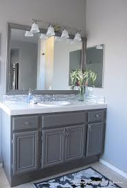 how to paint oak cabinets painted oak cabinets painted bathroom