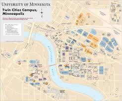 Bc Campus Map University Of Minnesota Twin Cities Campus Map Minneapolis U2013saint